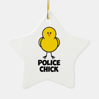 Police Chick Christmas Ornaments