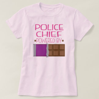 Police Chief Chocolate Gift for Her T-Shirt