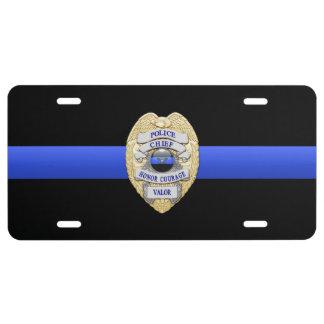 Police Chief Eagle Insignia Badge License Plate