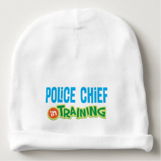 Police Chief In Training Baby Infant Beanie hat