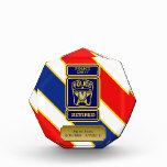 Police Chief Retired Badge Acrylic Award
