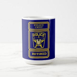 Police Chief Retired Badge Coffee Mug