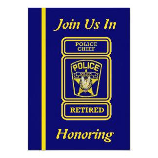 Police Chief Retirement Invitation