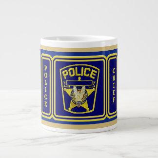 Police Chief shield Giant Coffee Mug