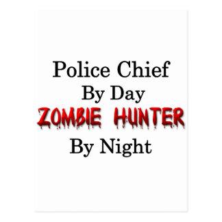 Police Chief/Zombie Hunter Postcard