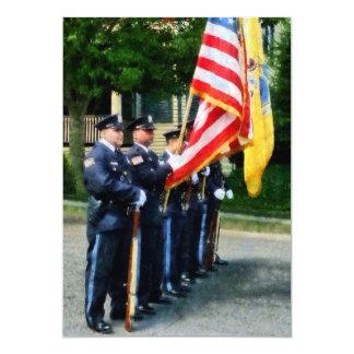 Police Color Guard Custom Invite