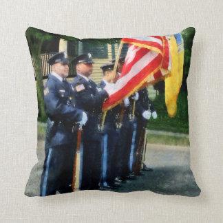 Police Color Guard Throw Pillow