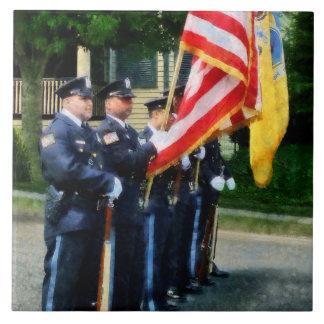 Police Color Guard Tile