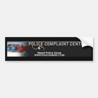 POLICE COMPLAINT CENTER BUMPER STICKER