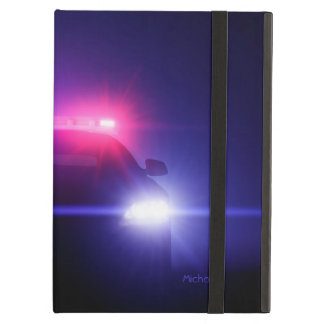 Police Cop  Car Full Blinking Lights iPad Air Cover