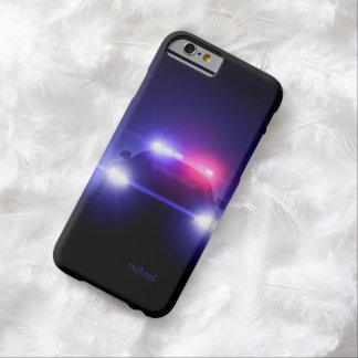 Police Cop Car Full Lights Blinking Barely There iPhone 6 Case