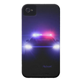 Police Cop   Car Full Lights Blinking iPhone 4 Case-Mate Cases
