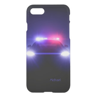 Police Cop   Car Full Lights Blinking iPhone 8/7 Case