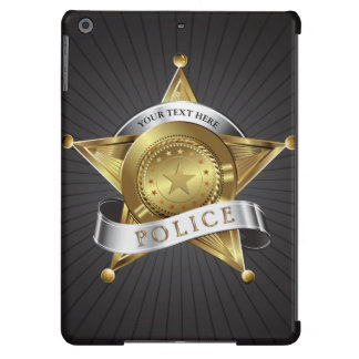 Police Cop Security Badge Cover For iPad Air