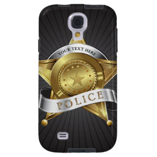 Police Cop Security Badge Galaxy S4 Case