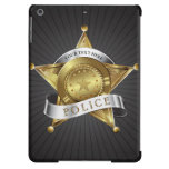 Police Cop Security Badge iPad Air Covers