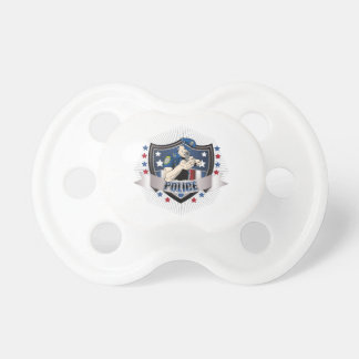 Police Crest BooginHead Pacifier