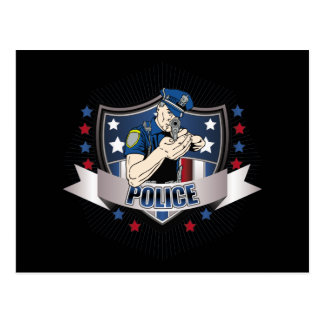 Police Crest Postcard