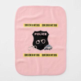 Police Crime Scene Baby Burp Cloth