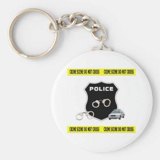 Police Crime Scene Basic Round Button Keychain