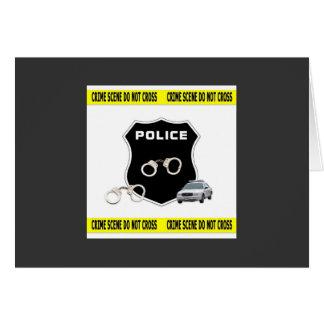 Police Crime Scene Card