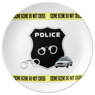 Police Crime Scene Dinner Plate