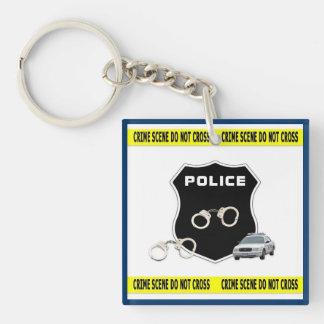 Police Crime Scene Keychain