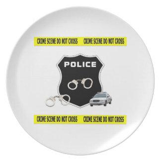 Police Crime Scene Plate