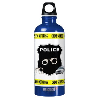 Police Crime Scene Reusable Water Bottles