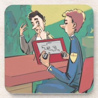 Police Crime Sketch Artist Funny Drink Coaster