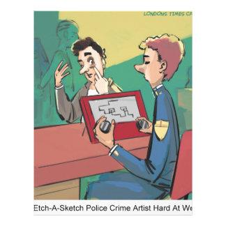 Police Crime Sketch Artist Funny Letterhead