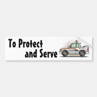 Police Cruiser Car Cop Car Bumper Sticker
