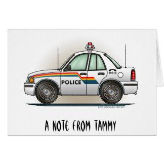 Police Cruiser Car Cop Car Stationery Note Card