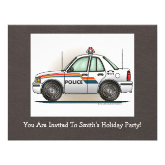 Police Cruiser Car Cop Car Personalized Announcements