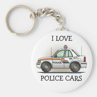 Police Cruiser Car Cop Car Keychain