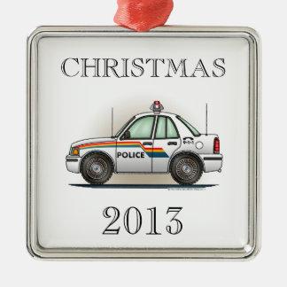 Police Cruiser Car Cop Car Christmas Ornaments