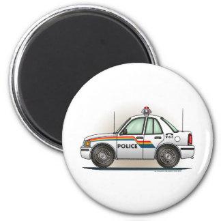 Police Cruiser Car Cop Car Round Magnet