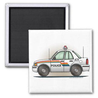 Police Cruiser Car Cop Car Square Magnet