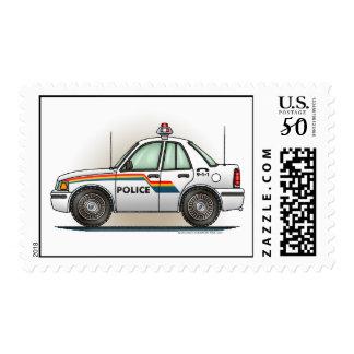 Police Cruiser Car  Postage Stamp