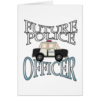 Police Cruiser Future Police Officer Card