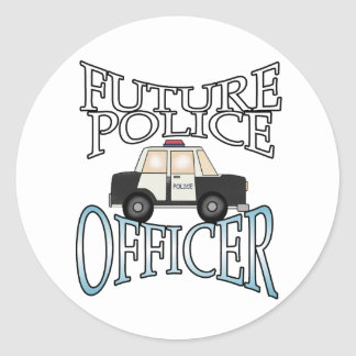 Police Cruiser Future Police Officer Classic Round Sticker