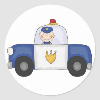 Police Cruiser T-shirts and Gifts Classic Round Sticker