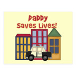 Police Daddy Saves Lives T-shirts and Gifts Postcard