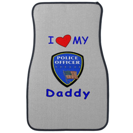 Police Dads Car Floor Mat