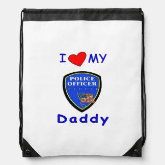 Police Dads Drawstring Backpack