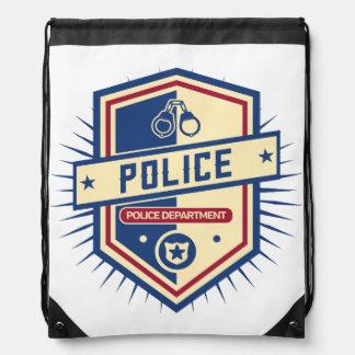 Police Department Crest Drawstring Bag