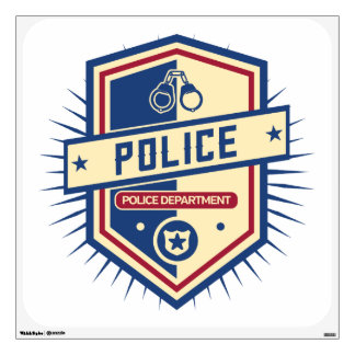 Police Department Crest Wall Decal