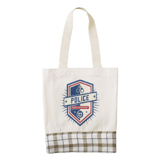 Police Department Crest Zazzle HEART Tote Bag