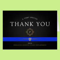 Police Department Custom Thank You Card