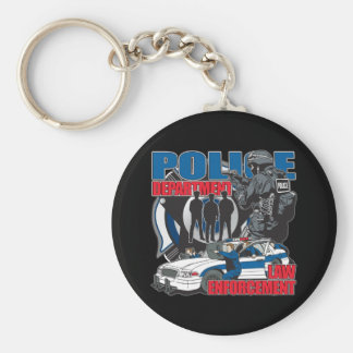 Police Department Key Chain